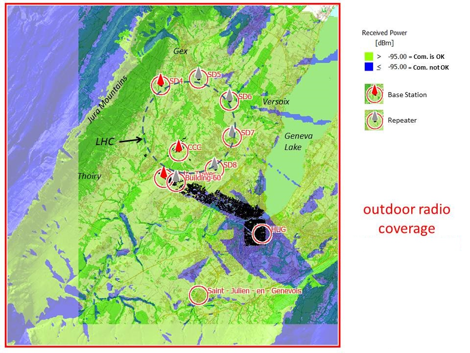 What is the outdoor radio coverage? | IT Department
